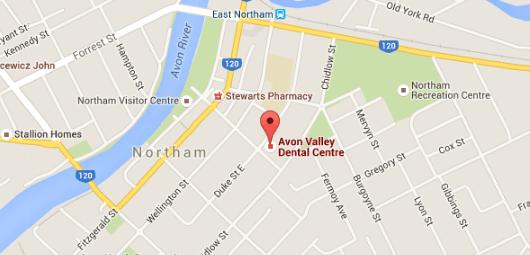 location of avon valley dental centre in northam wa
